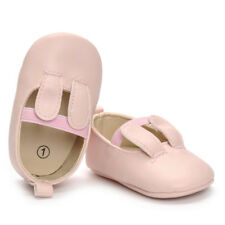0-18M Newborn Baby Girl Crib Shoes PU Leather Soft Sole Princess Shoes Prewalker