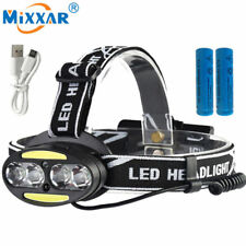 LED USB Rechargeable Headlight Camping Fishing Hike Induction Head Lamp Torch