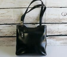 Guess Bag Black Faux Leather Double Carry Handles Stand Alone Purse