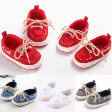 Infant Boy Girl Lace Up Toddler Crib Baby Shoes Sneaker Prewalker Soft Sole
