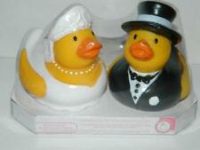 Rubber Duckies Wedding Cake Topper Bride Groom Shower Gift Decoration Set/2 New