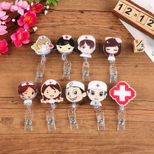 Retractable Badge Reel Nurse Exihibiton ID Name Card Badge Holder School Supply