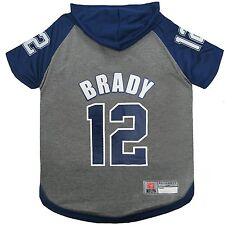 Tom Brady New England Patriots Licensed NFL Dog Pet Hoodie Tee Shirt Sizes XS-L