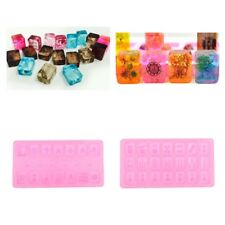 Silicone Mahjong Mold Resin Jewelry Making Mould Casting Deco Craft DIY Tool