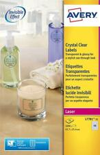 Avery L7781-25 Clear Crystal Clear Labels Pack of 1000