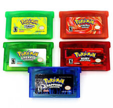 Pokemon Game Card Cartridge 5 Versions for Game Boy Advance GBM/GBA/SP NDS NDSL