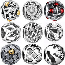 925 silver new sterling hollow european charms bead for bracelet necklace BK006
