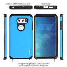 LG V35 / V35 ThinQ Case Hybrid Shock Proof Dual Layer Protective Cover Blue