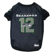 Seattle Seahawks Officially Licensed 12th Man NFL Dog Mesh Jersey Sizes XS-XXL