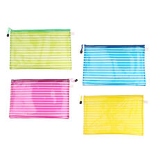 Waterproof A4 Mesh Document Bag Storage Pouch with Zipper Stationery