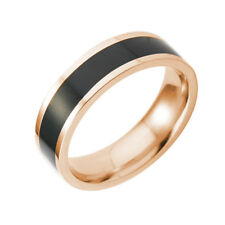 Men Women Stainless Steel Titanium Band Ring Wedding Engagement Size 6-10