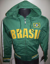 YOUTH BRASIL National Pride Soccer Olympic full zip Hooded Track Jacket S M L XL