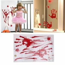 Bloodstained Wall Sticker Halloween Horror Glass Wall Stickers Blood Decoration
