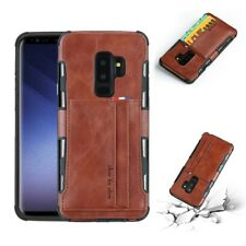 For Samsung Note 9 S8 S9 Plus PU Leather Wallet Credit Card Slot Case Back Cover