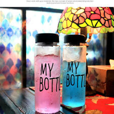 Portable My Bottle Printed 500ml Transparent Sports Water Fruit Juice Drink Cup