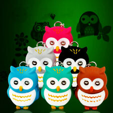1Pc Novelty 3D Cartoon Owl LED Light Keyring Key Chain DIY Pendant Acc Gift Hot