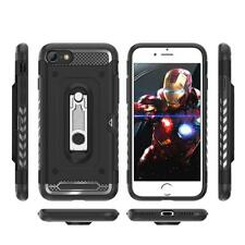 For iPhone 7 / 8 Plus,Heavy Duty Shockproof TPU Bumper Case Kickstand & Slot