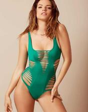 NEW Agent Provocateur Dakotta Cutout Swimsuit One Piece Green 3 4 M L RARE