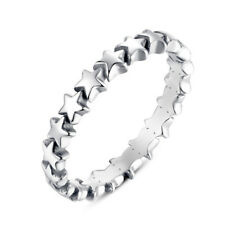 Fashion Star Shaped 925 Silver Jewelry Women Wedding Party Rings Size 6-10
