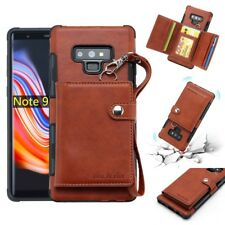 F Samsung Galaxy Note 9 S8 S9 Plus Leather Wallet Card Slot Back Flip Case Cover