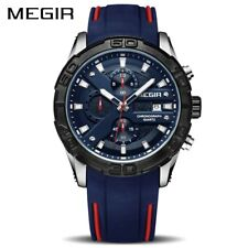 MEGIR Fashion Sport Men Watch Relogio Masculino Brand Silicone Army Military