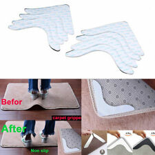 4/8pcs Rug Carpet Grippers Anti Curling Non Slip Skid PU Pads Solid Stickers Lot