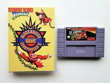 Donkey Kong Country Competition Cartridge SNES Repro Blockbuster Championship II