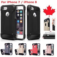 For iPhone 7 & iPhone 8 - Shockproof Heavy Duty Armour Hybrid Cover Phone Case