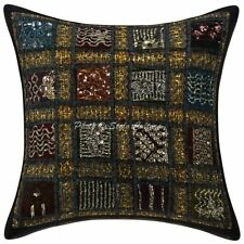 """Indian Cotton Pillow Case Cover Hamdmade Embroidered Cushion Cover 16"""""""