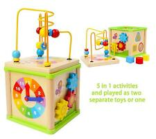 Wooden Activity Centre Beads Maze - Early Education 1 Year olds Baby Toy- Wooden