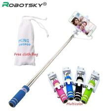 Selfie Stick Button Wired Sponge Handle Monopod Universal Iphone 6 5 Android