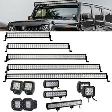 "3/4/7/12/20/22/32/42/50/52"" LED Offroad Light Bar Driving Pods For JEEP ATV SUV"
