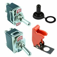 Toggle Flick Switch Screw Terminals 10A 250VAC with Covers