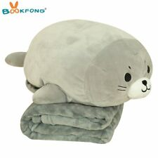 40cm Sea World Animal Sea Lion Doll Seal Plush Toy with Blanket Soft Baby