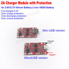 5V 2A USB Lithium Li-ion 18650 Battery Charger Module Protection Circuit Board