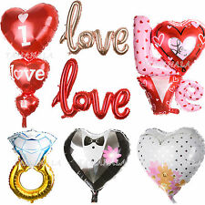I LOVE YOU Heart Diamond Ring Foil Balloons Anniversary Wedding Valentines Party