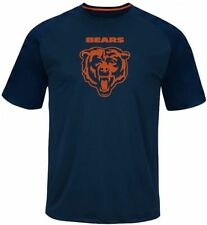 Chicago Bears Majestic Skill In Motion Mens Navy Shirt Size XLT