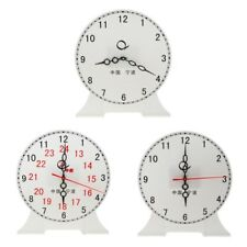 Time Teaching Clock Student 12/24 Hour Gear Clock Preschool Learning Toy