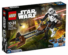 75532 LEGO Star Wars Scout Trooper & Speeder Bike 452 Pieces Age 10-14 New 2017!