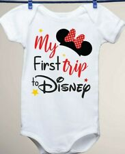 Disney Inspired, My First Trip to Disney Minnie Mouse Ears Baby Gerber Onesie