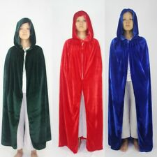 Adult Children Witch Velvet Cape Hood Cosplay  Robe Medieval Costume Cloak Party