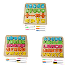 Match Board Colorful Wooden Puzzle Toy Sorting Board Stacking Block Math Toy
