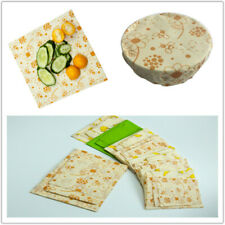 3Pcs/Set of Food Beeswax Wraps Covers Reusable Eco-Friendly Food Wraps Washable