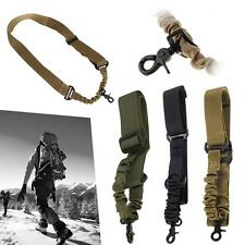 Adjustable Tactical Gun Rifle Sling 1 One Single Point Strap With Metal Hook ZH