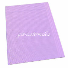 125 Pcs Disposable Dental Patient Towel 2 Ply Tissue + 1 Poly Backed Colorful
