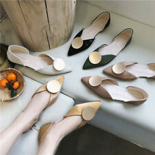 Ladies Pointy Toe Office Flats Womens Casual Slip On Pumps Shallow Ballet Shoes