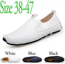 Men's Summer Loafers Slip On Close Toe Shoes Flats Driving Moccasins Plus Size