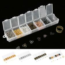 1500Pcs Open Jump Ring Silver Split Ring Connectors Jewelry DIY Making Accessory