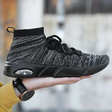 Mens Sock Shoes Sports Sneakers Boots Outdoor Breathable Fashion Walking PU Sole