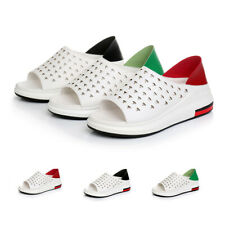 Fashion Women's Wedge Hollow-Out Sandals Slippers Open Toe Comfort Walking Shoes